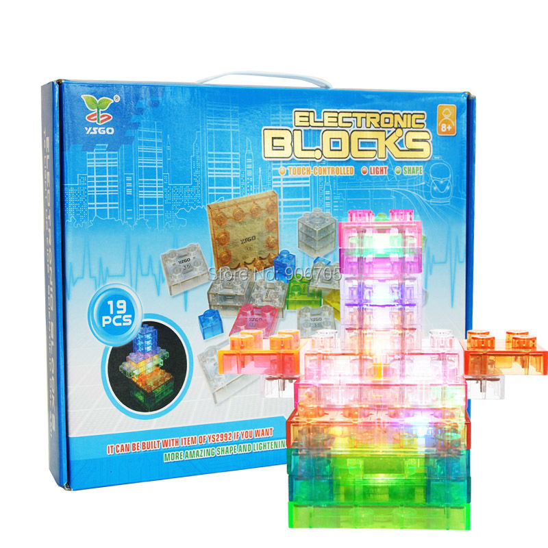 ФОТО Touch-controlled lamp electronic blocks DIY Kits Integrated circuit building blocks snap circuit model,Electronics Discovery Kit