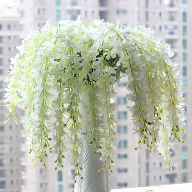 Fashion Home Party Wedding Garden Floral Decoration Romantic Artificial  Wisteria Silk Flower(China (Mainland