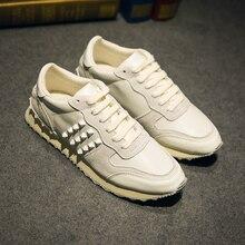 Новое Прибытие весна осень джокер мужская мода Европейских и Американских популярный стиль ретро пары белого золота повседневная обувь