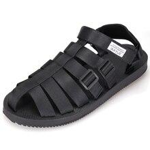 Летние сандалии-гладиаторы на плоской подошве с вырезами для отдыха для мужчин; черные дешевые сандалии; пляжная обувь