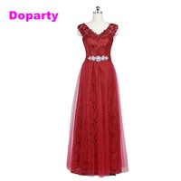 2015 Elegant Long Sleeveless V Neck Formal Mother Of The Bride Dubai Kaftan Red Wine Purple