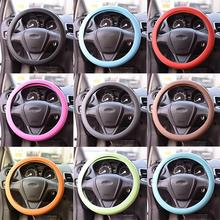 Muti texture glove steering supplies wheel silicone universal auto soft colors