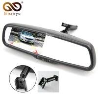 Special Bracket HD 640*480 4.3 Inch TFT LCD Car Parking Windscreen Rear View Rearview Mirror Monitor For Toyota Kia Hyundai VW