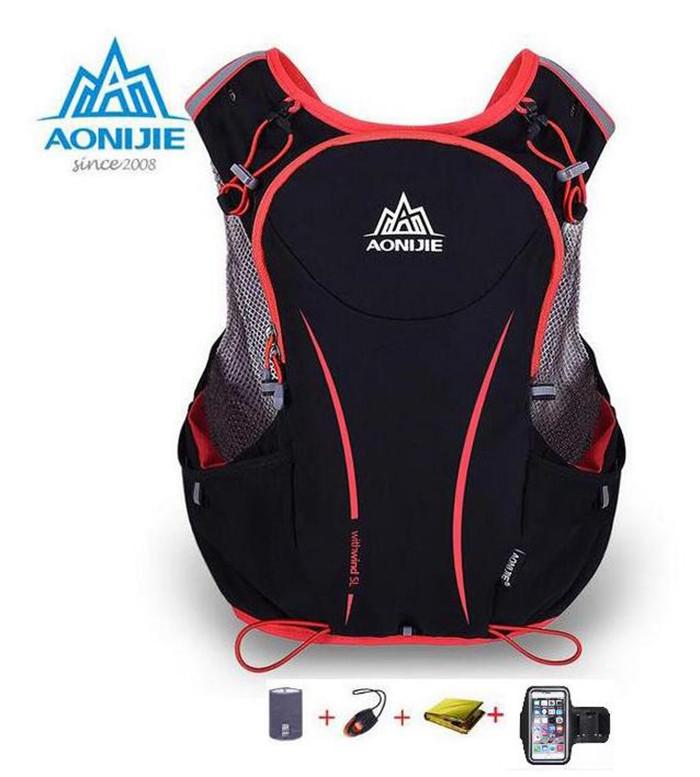 Prix pour Aonijie 5l de course sac à dos bouilloire paquet marathon vélo sacs de course gilet bouilloire sport sac étanche sac en nylon
