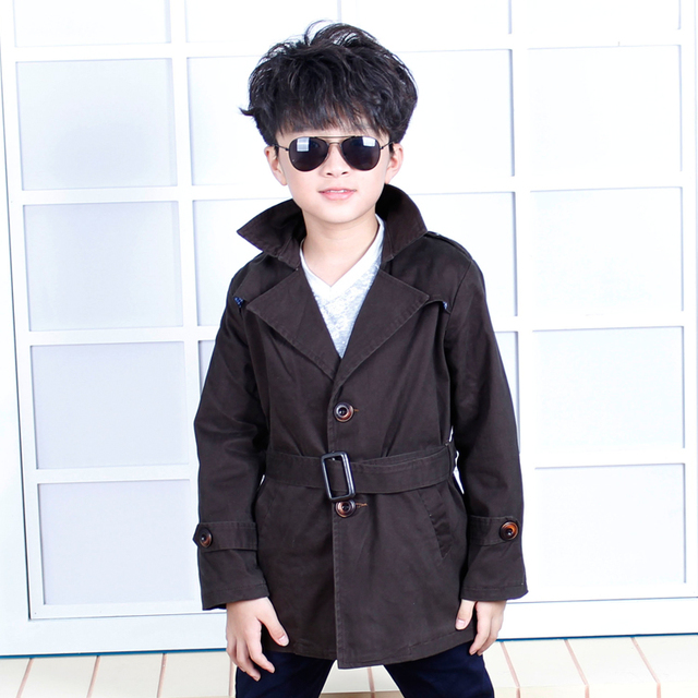 Free shipping Male child dust coat  spring and autumn 2016 men's child clothing child outerwear