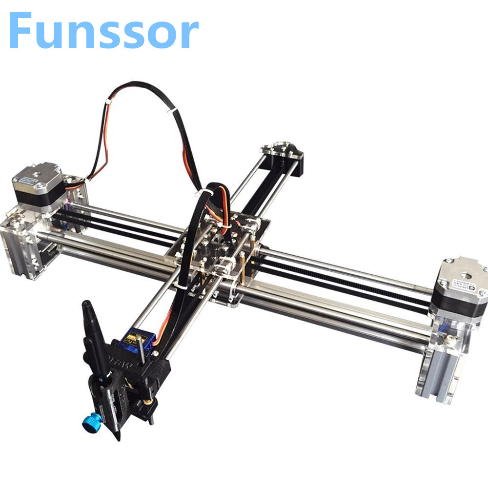 все цены на Funssor drawbot Idraw masters lettering robot XY-plotter drawing robot kit X Y axis writing robot support laser moduel