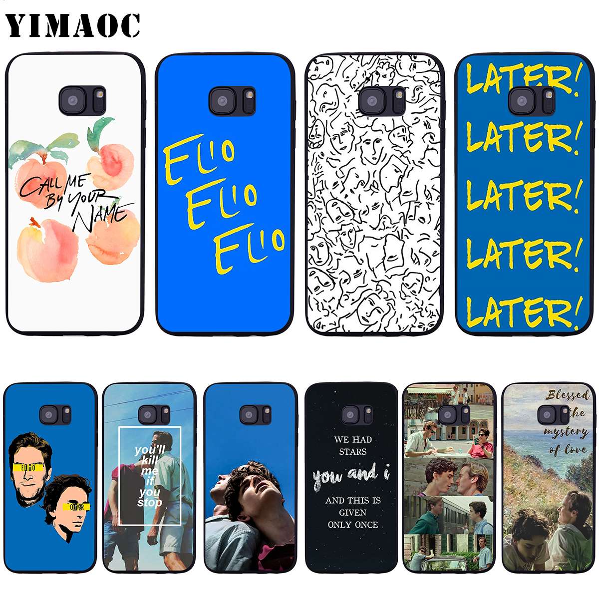 YIMAOC Call Me By Your Name Soft Silicone Case for Samsung Galaxy S6 S7 Edge S8 S9 Plus A3 A5 A6 Note 8 9