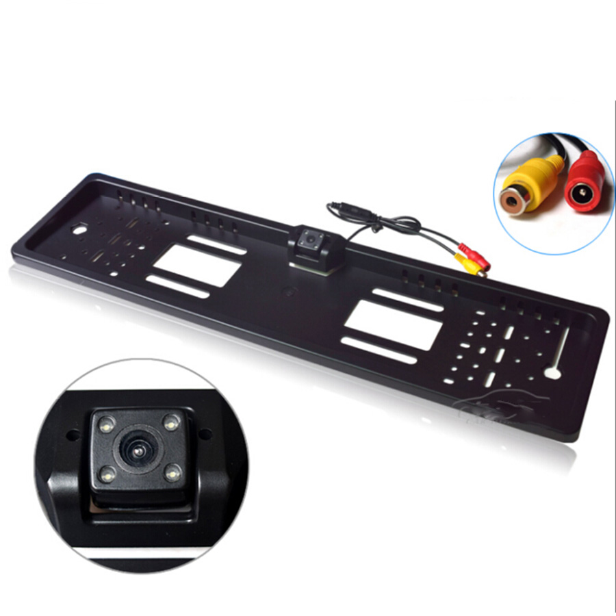 Car Backup Camera >> Waterproof European License Plate Frame Rear View Camera Auto Car Reverse Backup Parking ...