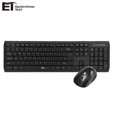 NEW ET A06 2.4G Wi-fi Keyboard Mouse Combo Waterproof Multimedia Keys Keyboard 1600DPI Adjustable Wi-fi Optical Mouse