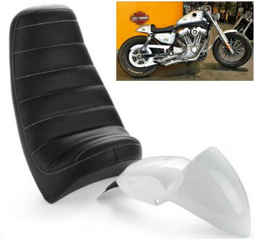 Cafe Racer Cowl Fender Tail Section w/ Seat For Harley Sportster XL 04-UP Custom