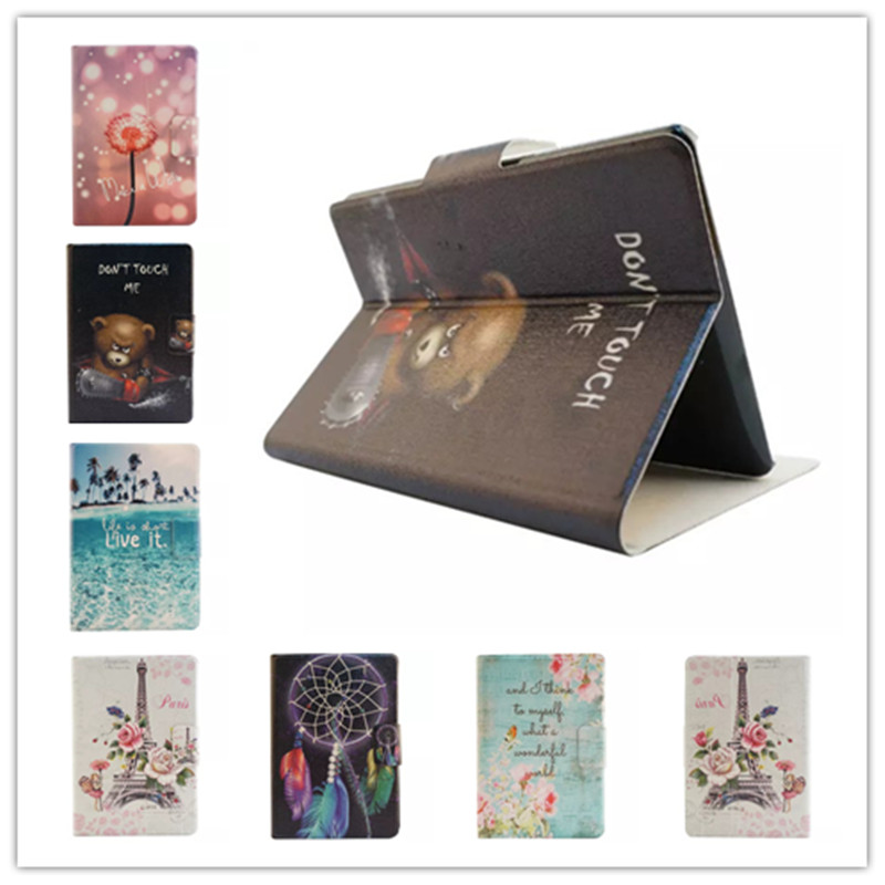 Fashion Colorful Painting Leather Case for Paperwhite 2015 Stand Style Back Cover for amazon Kindle Paperwhite 1/2/3+screen film