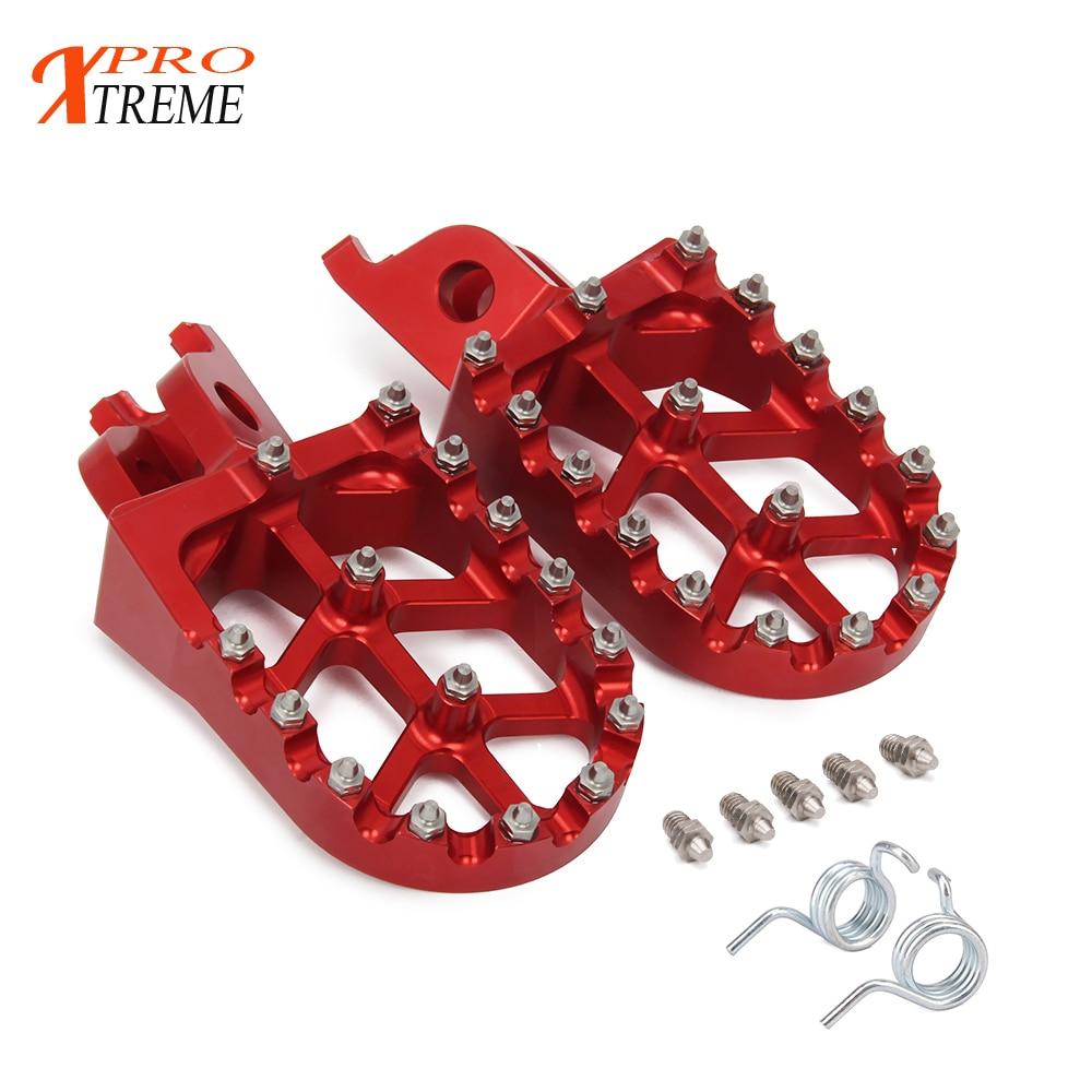 Moto En Aluminium Repose-pieds Repose-pieds Pédales Pour HONDA CR125 250R CRF250R CRF250X CRF450R CRF450RX CRF450X CRF250L M