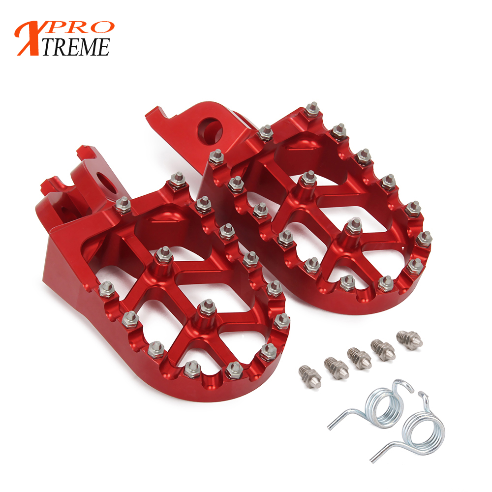 Motorcycle Aluminum FootRest Footpegs Pedals For HONDA CR125 250R CRF250R CRF250X CRF450R CRF450RX CRF450X CRF250L M nicecnc foot peg rests footpegs for honda cr 125r 250r crf250r crf450r 2018 crf250x crf450x crf 150r 450rx 250l m 250 rally 2017