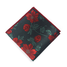 Bridegroom Evening Party Business Tuxedo Suit Polyester Silk Purple Green Red Flower Embroidery Pocket Square Towel Handkerchief