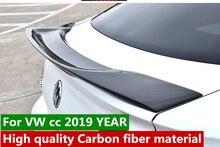 цена на R style For Volkswagen CC Spoiler High Quality Carbon fiber material  Car Rear lip Wing trunk Spoiler For  CC Spoiler 2019