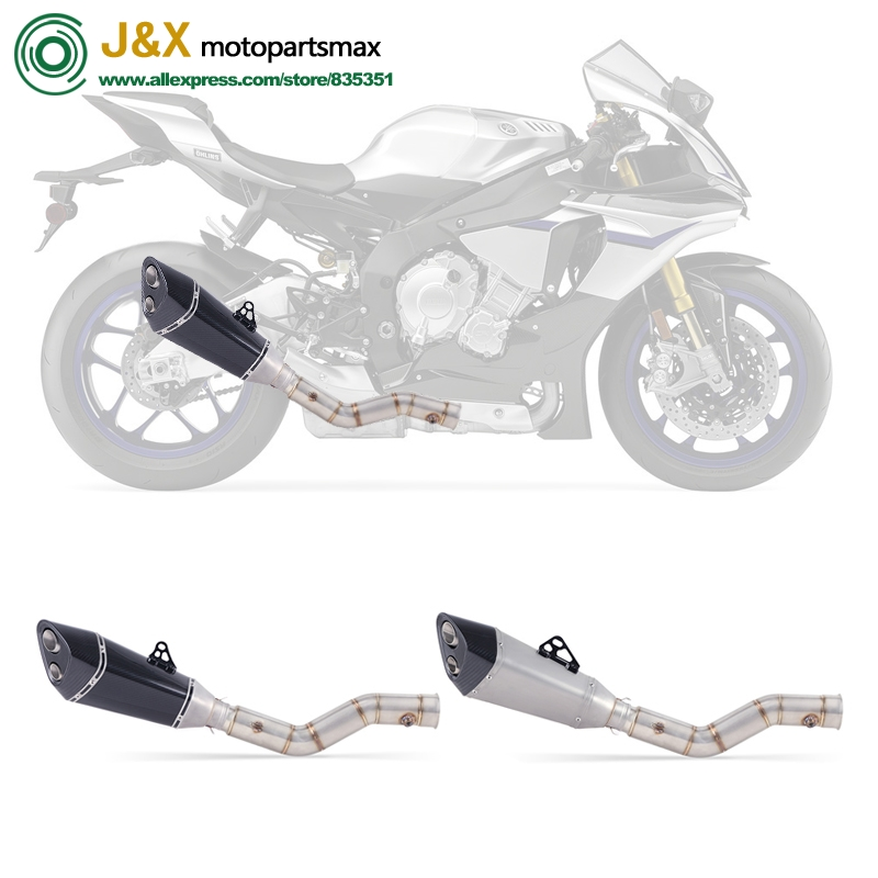 For yamaha YZF1000 YZF R1 2009 2010 2011 2012 2013 2014 Motorcycle Exhaust Muffler Escape Full System Middle Link Pipe Slip On