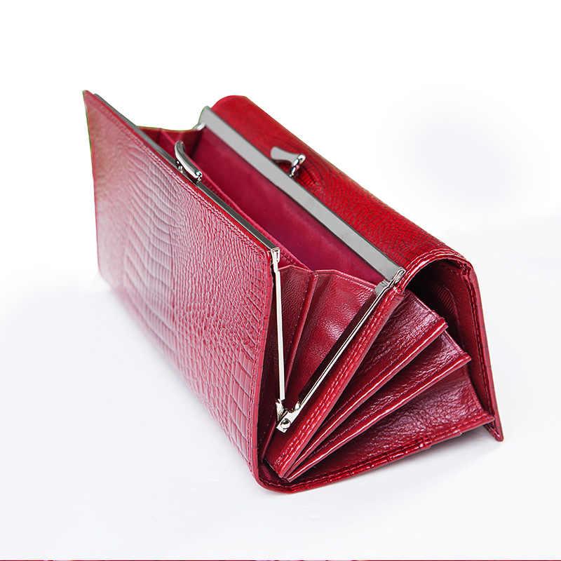 024de92fc44d ... Брендовые женские портмоне и кошельки женские длинные европейские и американские  Стиль кожаный кошелек портмоне дамы кошелек