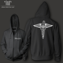 HOUSE MD men women unisex zip up hoodie hooded sweatershirt 800g weight organic cotton polyester fleece combine Free Shipping