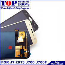 Getest Lcd Vervanging Voor Samsung Galaxy J7 2015 J700 J700F J700H J700M Telefoons Lcd Display Touch Screen Digitizer Vergadering(China)