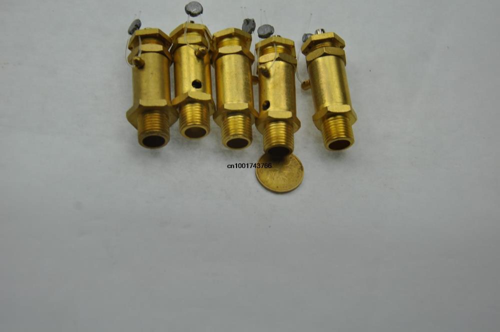 5Pcs/A Lot 0.9Mpa 1/2BSPT Air Compressor Pressure Relief Valve Safety Release Valves 1 3cm thread metal safety pressure relief valve for air compressor zmm
