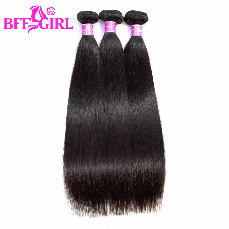 "BFF GIRL Brazilian Straight Hair Bundles 100% Human Hair Can Buy 1/3/4 Bundles 10""-30"" Natural Color Remy Hair Weaves Extensions"