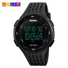 SKMEI Marca Mens LED Digital Reloj Militar Hombres Deportes Relojes 5ATM Nadar Informal Al Aire Libre de Escalada de La Moda Relojes de Pulsera #1219