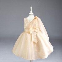Retail 2016 New Hot Beading Girls Dress Girls Pageant Dresses Ball Gown Baby Little Tutu Flower