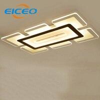 (Eiceo) Ultra Slim 1.2 м светодиодный потолочный светильник Гостиная лампы творческий прямоугольный Светодиодные лампы огни купола Спальня Освещен