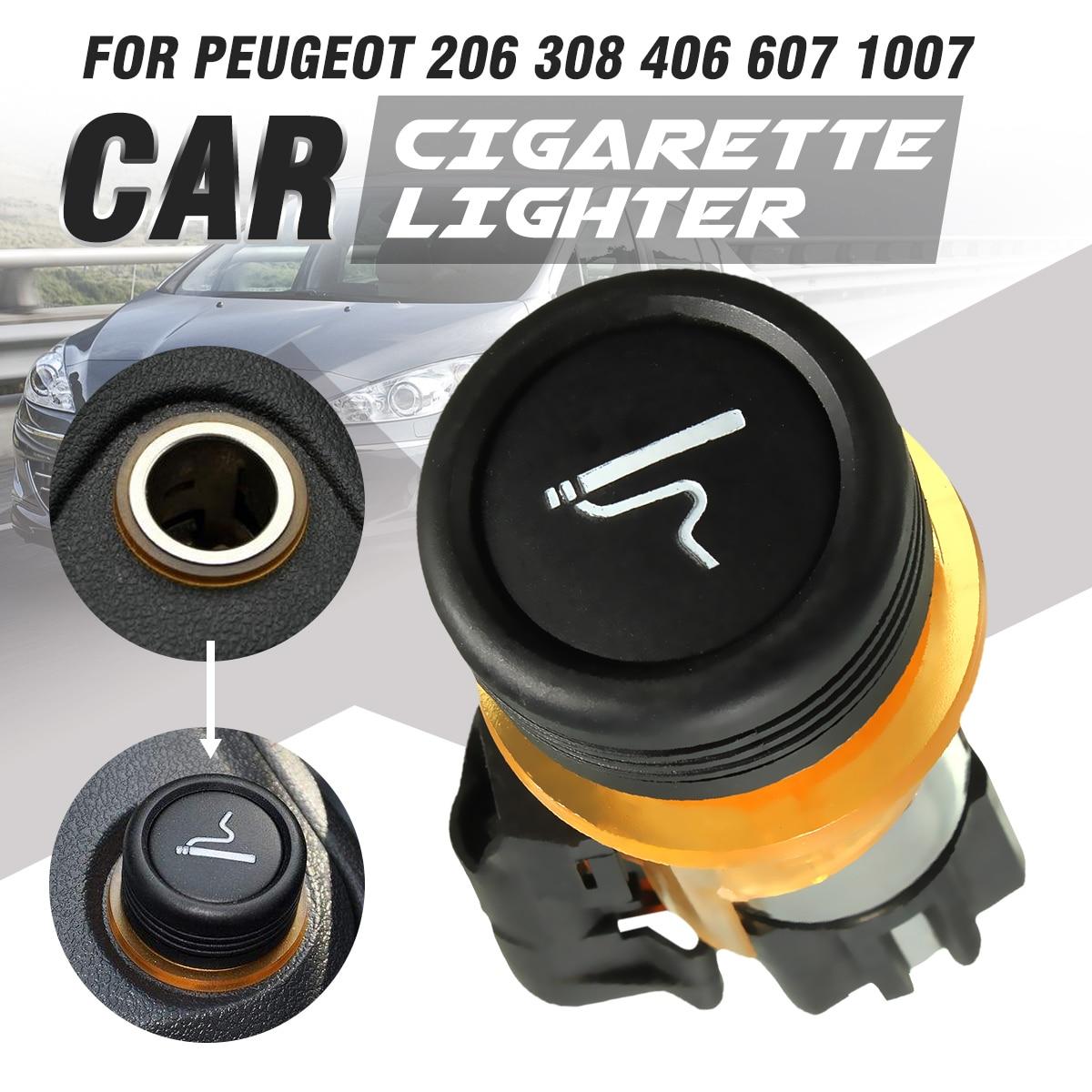 12 v Voiture Allume-cigare Logement Cig Socket Pour Peugeot CC SW 206 308 406 607 1007