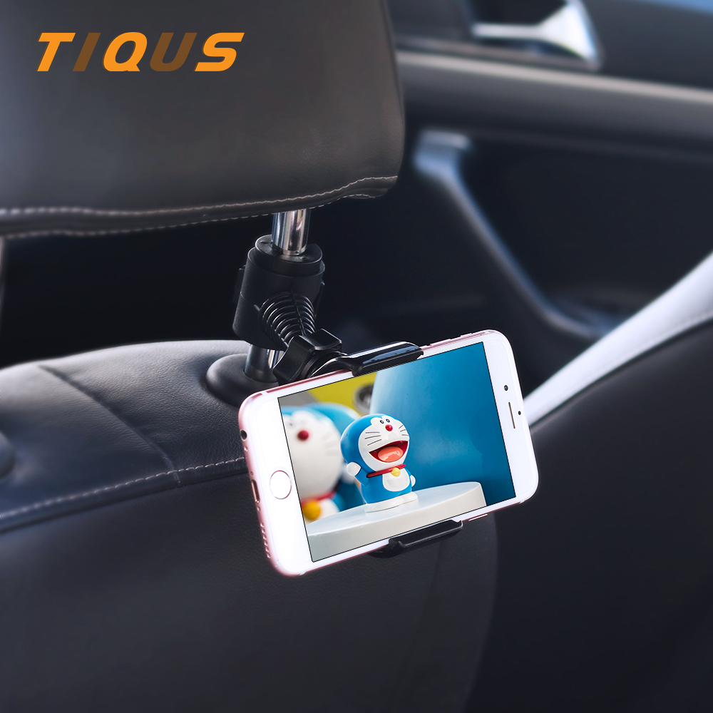 TIQUS Car Back Seat Headrest Mount Holder For IPhone Samsung Xiaomi Redmi 4x 4A 360 Degree Universal Mobile Phone Holder Stand