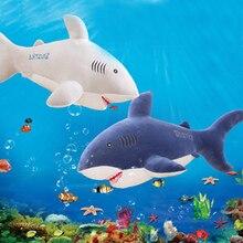 30/60CM Cute Shark Plush Toy Sea Animal Figurine Stuffed Creative Home Decoration Pillow Gift Toys For Children