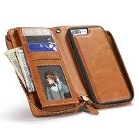 電話バッグ女性女の子puレザーフリップジッパーハンドバッグ財布財布カードスロット電話ケースカバーのためのiphone 7プラス5.5イン