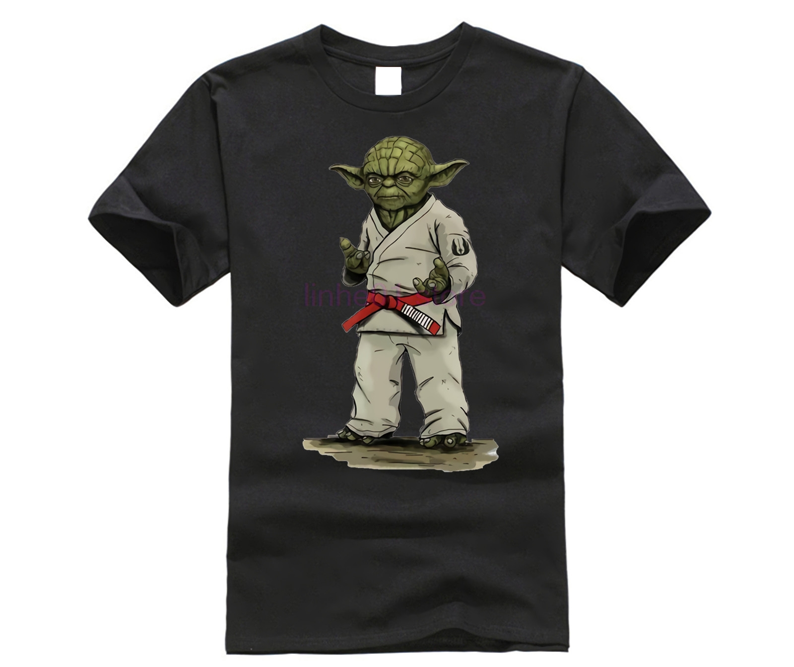 Star Wars   T     Shirt   Teenage Newest Unique Tshirts Yoda Normal Jiu Jitsu   T  -  Shirt   Men Summer Crew Neck Teenboys Clothes Star Wars