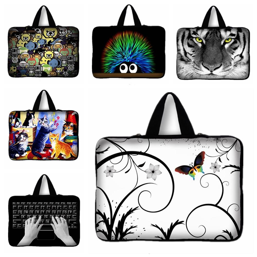 Honey 13 13.3 Inch Butterfly Cat Print Handle Laptop Bag Sleeve Case Cover Pc Handbag 13.3'' Notebook Case For Macbook Air Pro Vivid And Great In Style
