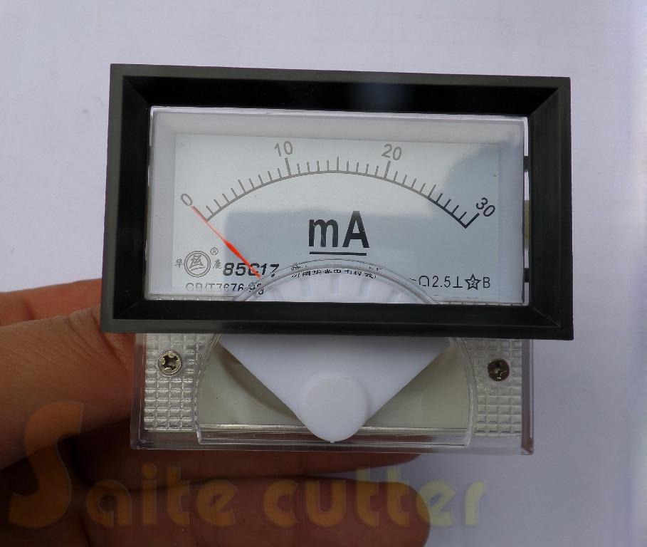 DC Ampere Meter 30mA 85C17 30 Milliampere Amp Analog Panel Meter Current Ammeter Co2 Laser Engraver Stamp