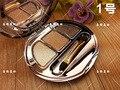 2016 de Corea Del Famoso Maquillaje 3 Del Brillo Del Color de Sombra de Ojos Maquillaje Ahumado Oro Mttallic Diamante Sombra de Ojos Paleta de Sombra de Ojos Con El Cepillo