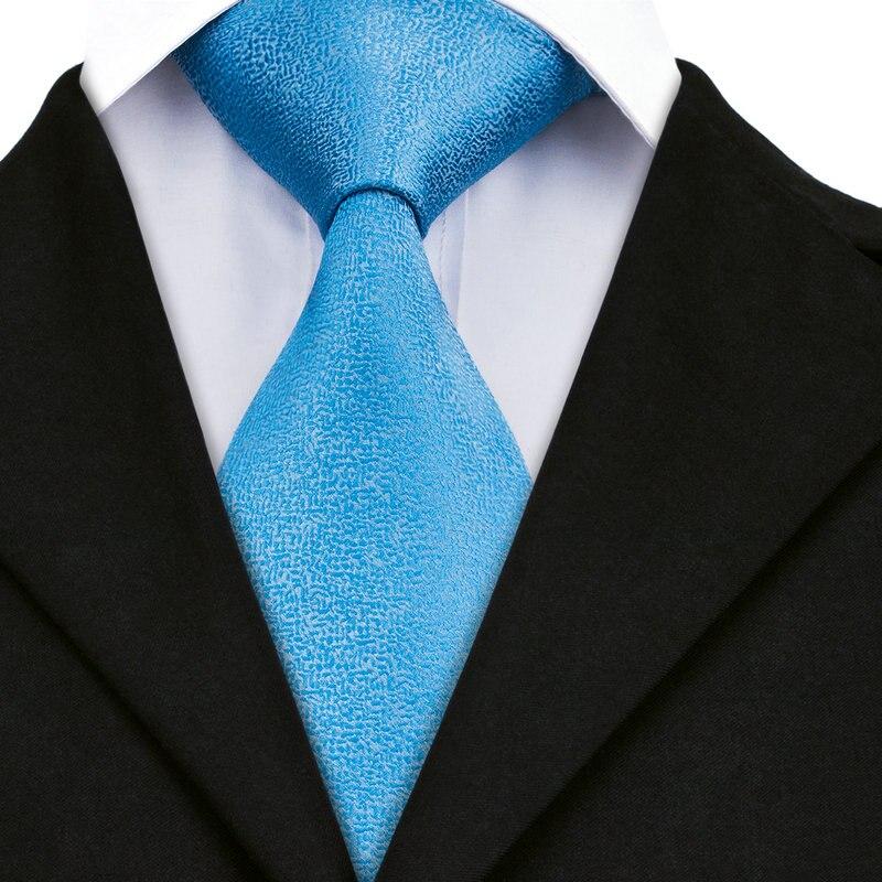 DN-1110 Tie Blue Novelty 2017 Classic Fashion Men's 100% Jacquard Woven Silk Neckties For Men Formal Wedding Party Groom