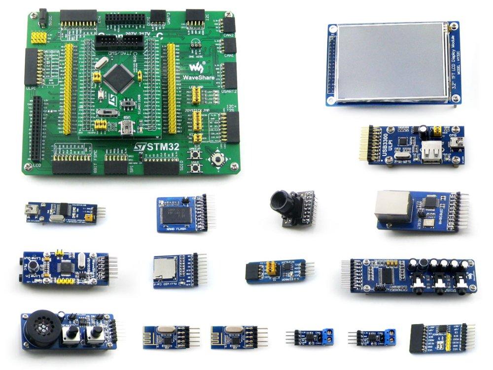module STM32 Development Board STM32F407VET6/STM32F407VGT6 MCU Open407V-C Evaluation Kit+PL2303 USB UART Boar+14 Accessory Modul цены
