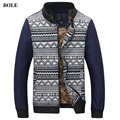 2016 Spring New Arrival Fashion Brand cotton print patchwork Men's causal blue Jacket Plus Size M~3XL Jacket for Men With Zipper