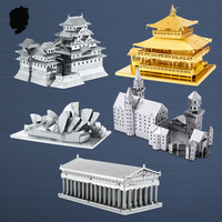GOLD KINKAKU JI Japanese Architecture 3D Metal Model Assembled Puzzle Challenging DIY Creative Ornaments Gift