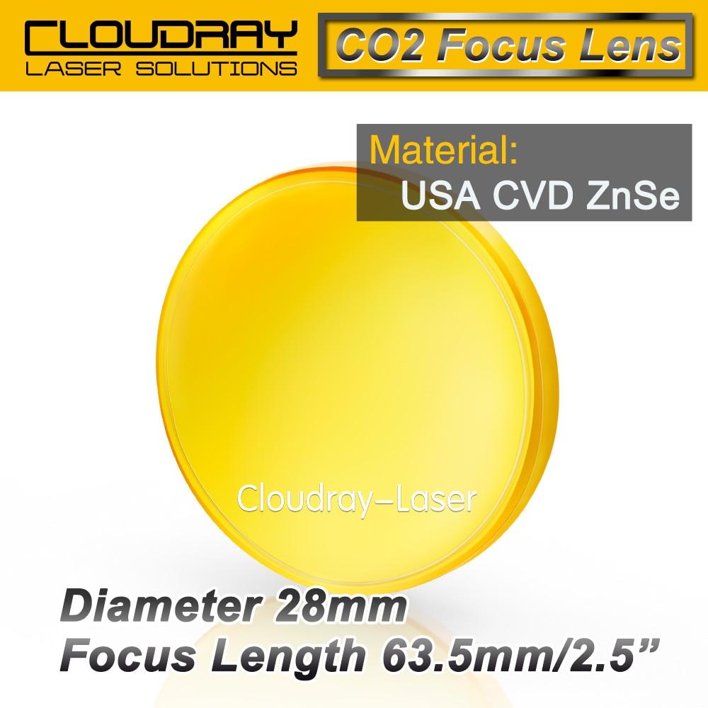 USA CVD ZnSe Focus Lens Dia. 28mm FL 63.5mm 2.5