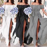 34ccbb688f82e 2019 Summer Dress Celmia Bohemian Women Maxi Long Dress Ladies Sexy V-neck  Casual Loose Ruffle Vestidos Party Robe Plus Size 5XL