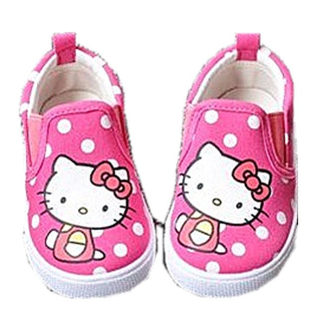 WENDYWU 2017 spring the spot KT cat wave point girl children's shoes girls total shoes