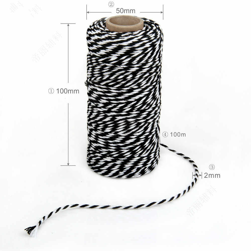 100m LONG PINK STRIPED TWINE ROLL Decorative Rattan Ball Rope//String//Cord Craft