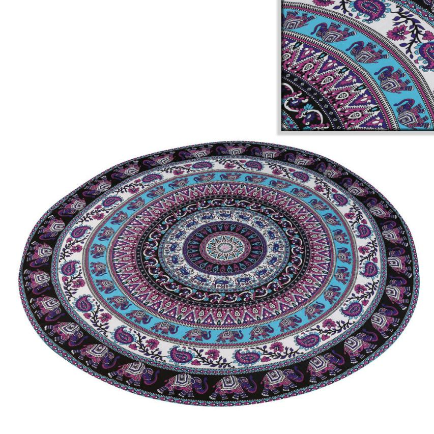 2018 Round Beach Pool Home Shower Towel Blanket Table Cloth Yoga Mat Free Drop Shipping F20