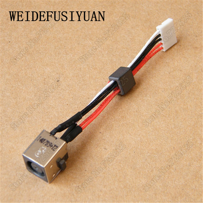 10PCS <font><b>DC</b></font> Power Jack with Wire Harness for Dell Inspiron 15R 5520 7520 3560 M521R <font><b>5525</b></font> Vostro 3560 P25F image