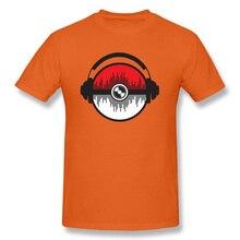 Hip Hop Records Carnival T-Shirt Music Headset DJ Rock Popular Tshirts Mens Orange Bass Band T Shirt Kanye West Bob Marley