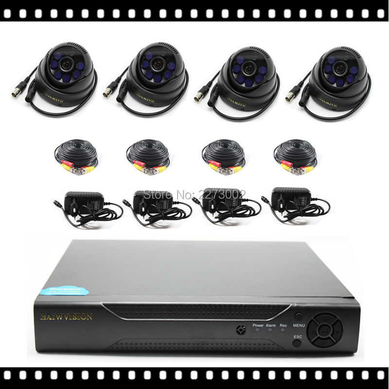 ФОТО 4ch CCTV System with Indoor IR Dome Camera 3.6mm Lens AHD Camera 720P
