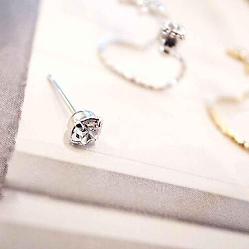Multi-purpose Simulated Pearl Rhinestone Earrings Female Stud Earrings For Charming Women Fashion Accessories