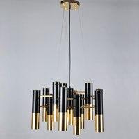 Современный дизайн люстра люстры для гостиной, спальни лампа фойе декор дома Освещение светильники белый металл E14 лампа AC110 220V